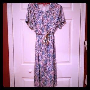 {vintage} Flutterbye Floral Short Sleeve Dress